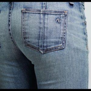NWOTS Rag & Bone Jeans White Leather Panels (29)